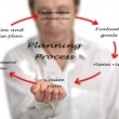 Diagram of planning process — Foto Stock