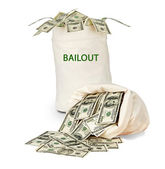 Bag with bailout — Stock Photo