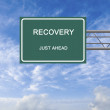 Stock Photo: Road sign to recovery