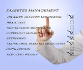 Checklist for diabetes managment — Stock Photo