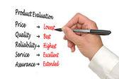 Evaluatie van product — Stockfoto