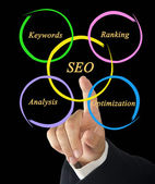 SEO diagram — Stock Photo