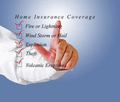 Home insurance coverage — Stock Photo