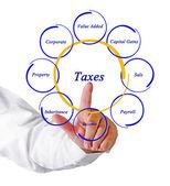Diagram över skatter — Stockfoto