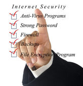 Checklist for internet security — Stock Photo
