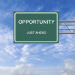 Road sign to opportunity — Stock Photo