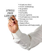 Stress free lifestyle tips — Stock Photo
