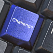 Keyboard with hot key for challenge — Stockfoto