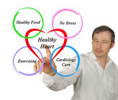 Υγιή καρδιά — Φωτογραφία Αρχείου