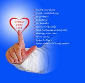 Sottolineare i consigli di stile di vita libero — Foto Stock