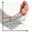 Chart of profit growth — Stock Photo #26256125