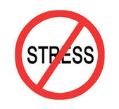 Road sign forbidding stress — Stock Photo