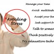 Stock Photo: Avoiding stress