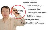 Vermeidung von stress — Stockfoto
