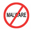 Sign No malware — Stock Photo