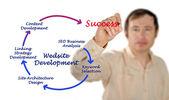 Websiteontwikkeling — Stockfoto