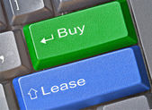 Key for buy and lease — Stock Photo