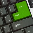 Keyboard with hot key for ideas — 图库照片