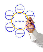Presentation of leadership — Stock Photo