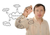 Cloud-services — Stockfoto