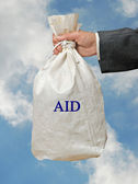 Bag with aid — Stock Photo