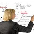 Stock Photo: Diagram showing development of business idea and business-relate