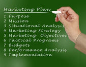 Plan de marketing — Foto de Stock