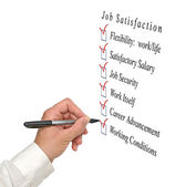 Job satisfaction list — Stock Photo