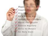 Mutlu sağlıklı yaşam — Stok fotoğraf