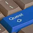 Stock Photo: Hot key for quest