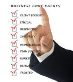 Business core values — Stock Photo
