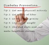 Diabetes preventie — Stockfoto
