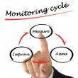 Monitoring cycle — Foto Stock