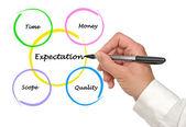 Presentación del diagrama de expectativa — Foto de Stock