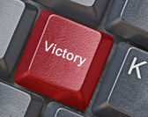 Hot key for victory — Stock Photo