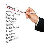 Valores esenciales de negocio — Foto de Stock