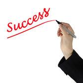 Psaní úspěch — Stock fotografie