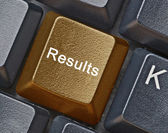 Key for results — Stock Photo