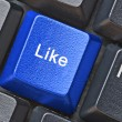 Stock Photo: Hot key for facebook