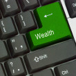 Keyboard with key for wealth — Stock Photo #31624985