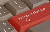 Tastenkürzel für Unabhängigkeit — Stockfoto