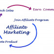 Diagram of affaliate marketing — Stock Photo #32977193