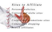 Sites to affailate — Stock Photo