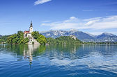 Bled lake — Stock Photo