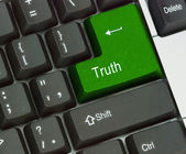 Key for truth — Stock Photo