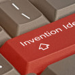 Key for invention — Stock Photo