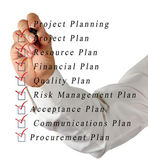 Projectplanning — Stockfoto
