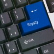 Stockfoto: Key for royalty