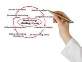 Marketing strategy cycle — Stock Photo