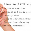 Sites to affailate — Stock Photo